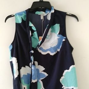 A New Day Womens Floral Sleeveless Blouse